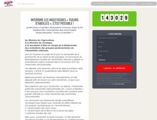 neonicotinoides.agirpourlenvironnement.org screenshot