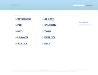 neophp.net screenshot