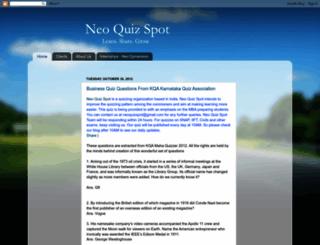 neoquizspot.blogspot.com screenshot