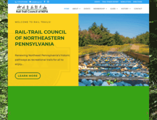 nepa-rail-trails.org screenshot