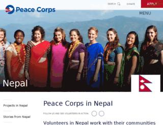nepal.peacecorps.gov screenshot