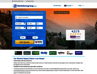 nepal.rentalcargroup.com screenshot