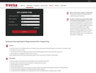 nepal.travisa.com screenshot