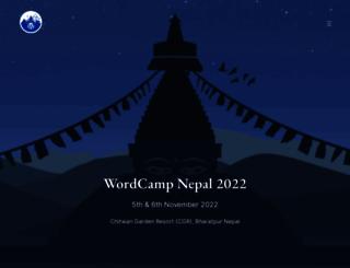 nepal.wordcamp.org screenshot