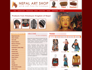 nepalartshop.com screenshot