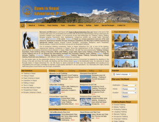 nepalesetrekking.com screenshot