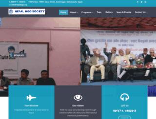 nepalngo.org screenshot