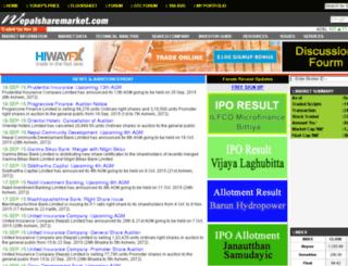 nepalsharemarket.com screenshot