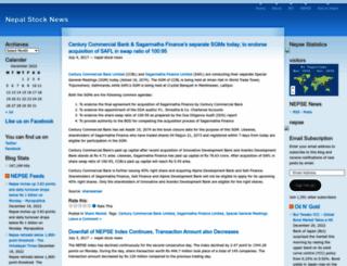 nepalstocknews.wordpress.com screenshot