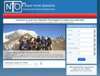 nepaltraveloperators.com screenshot
