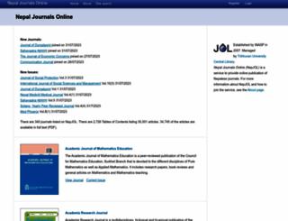 nepjol.info screenshot