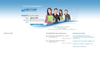 neptunwebh.uni-nke.hu screenshot
