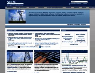 nerc.com screenshot