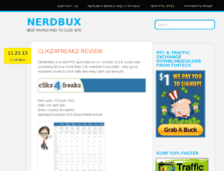 nerdbux.wordpress.com screenshot