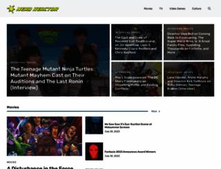 nerdreactor.com screenshot
