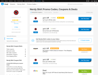 nerdyshirtscom.bluepromocode.com screenshot