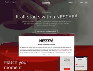 nescafe.co.uk screenshot