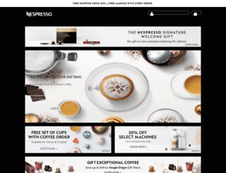 nespresso.com screenshot