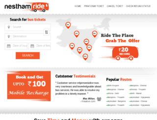 nesthamride.com screenshot