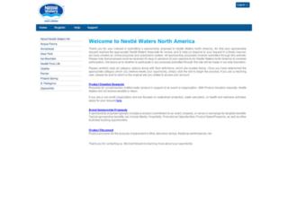 nestle-watersnasponsor.com screenshot