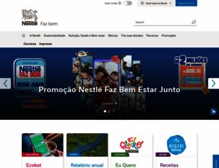 nestle.com.br screenshot