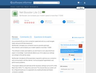 net-booster-lite.software.informer.com screenshot