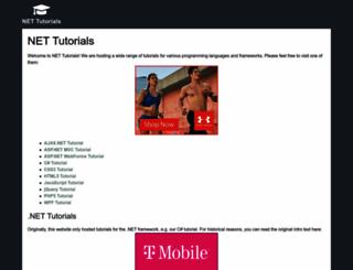 net-tutorials.com screenshot