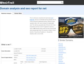 net.webanalyze.org screenshot