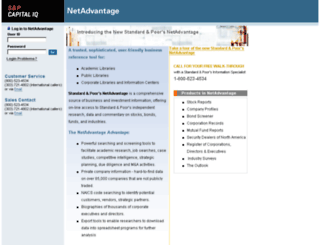 netadvantage.standardandpoors.com screenshot