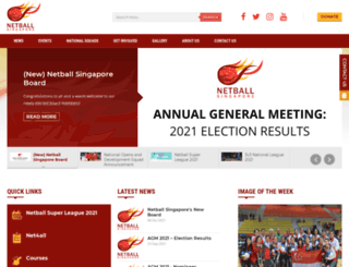 netball.org.sg screenshot