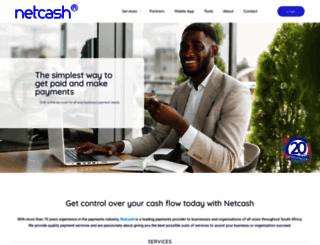 netcash.co.za screenshot