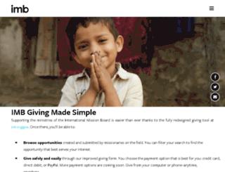 netcommunity.imb.org screenshot