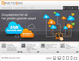 netdisk.com.tr screenshot