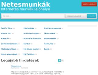 netesmunkak.hu screenshot
