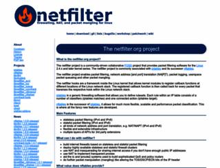 netfilter.org screenshot