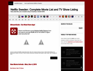netflixswedencompletelist.blogspot.se screenshot