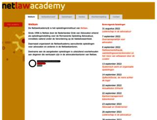 netlawacademy.nl screenshot