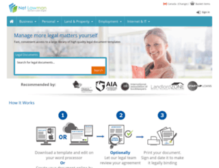 netlawmancanada.com screenshot