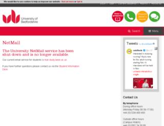 netmail.beds.ac.uk screenshot
