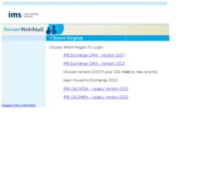 netmail.imshealth.com screenshot