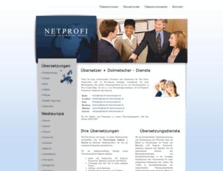 netprofi-uebersetzungen.de screenshot