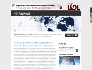 netprophet.tol.org screenshot