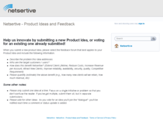 netsertive.uservoice.com screenshot