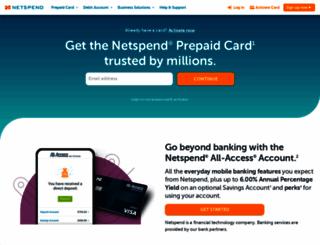netspend.com screenshot