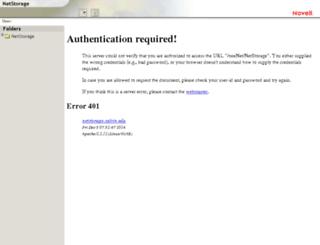 netstorage.calvin.edu screenshot