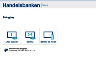 nettbank.handelsbanken.no screenshot