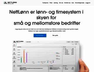 nettlonn.no screenshot