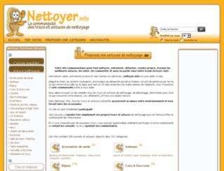 nettoyer.info screenshot