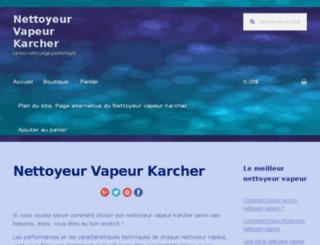 nettoyeurvapeurkarcher.com screenshot