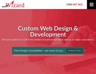 netwizerddesign.com.au screenshot